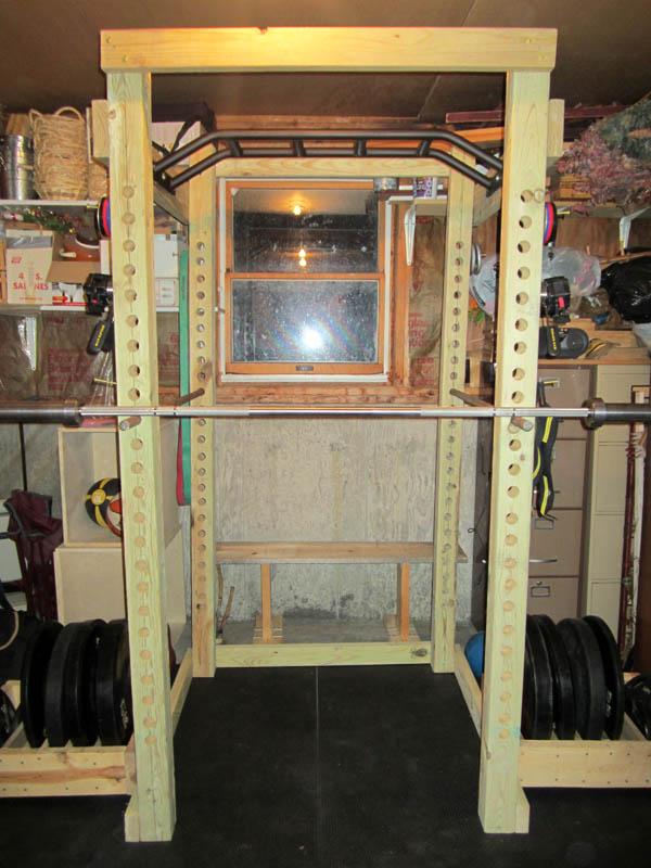 Mega training update go tami go for Diy squat rack metal